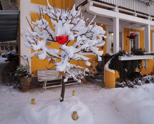 Winterstimmung in der Villa Klothilde in Zell am See